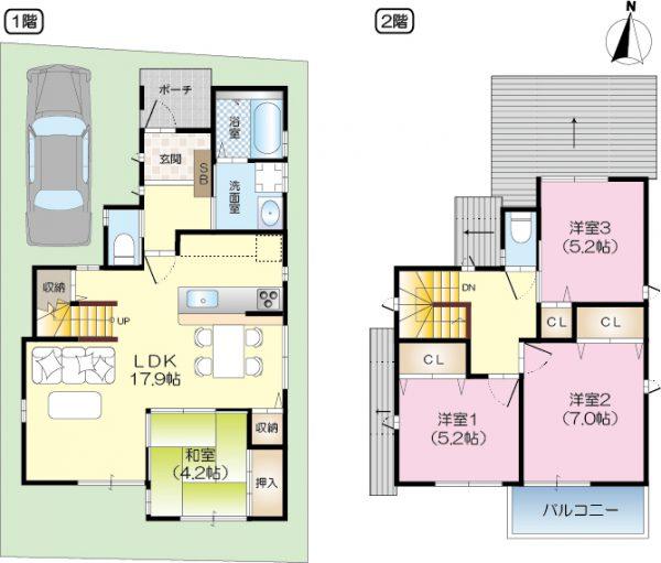 茨木市新庄町分譲地 1号地(建築条件付売土地)