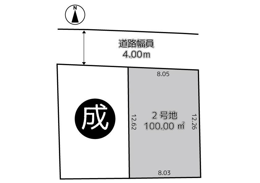 茨木市新庄町2号地(建築条件なし売土地)